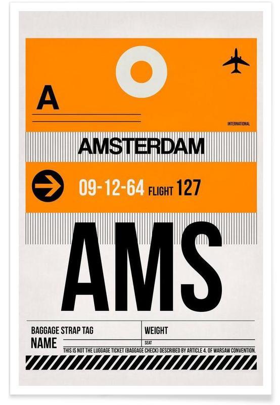 Amsterdam, Voyages, AMS-Amsterdam affiche