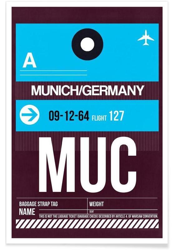München, Reizen, MUC-München poster