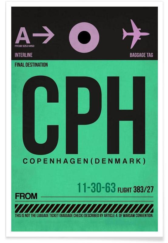 Copenhague, Voyages, CPH-Kopenhagen affiche