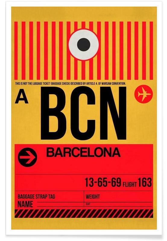 Barcelone, Voyages, BCN-Barcelona affiche