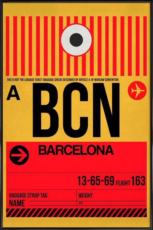 BCN-Barcelona ingelijste poster