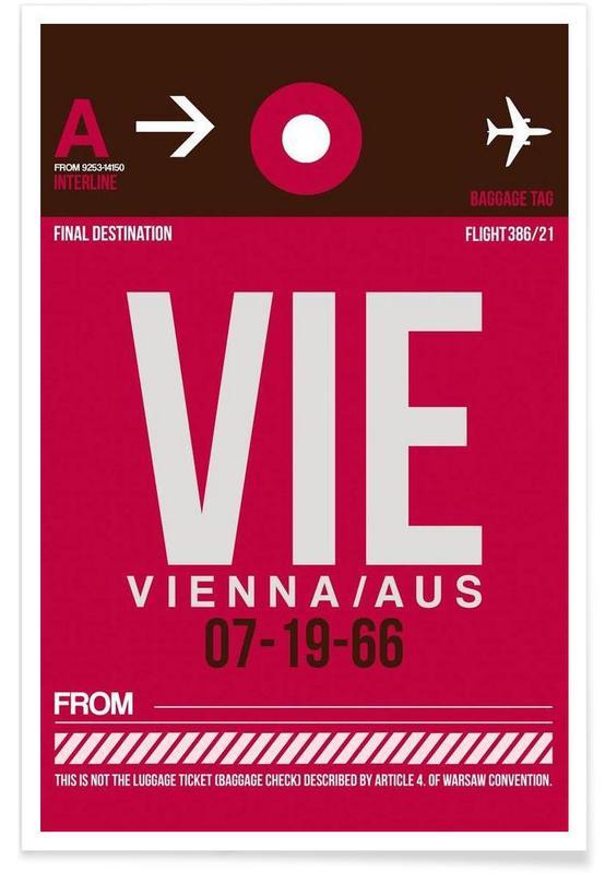 Voyages, Vienne, VIE-Wien affiche