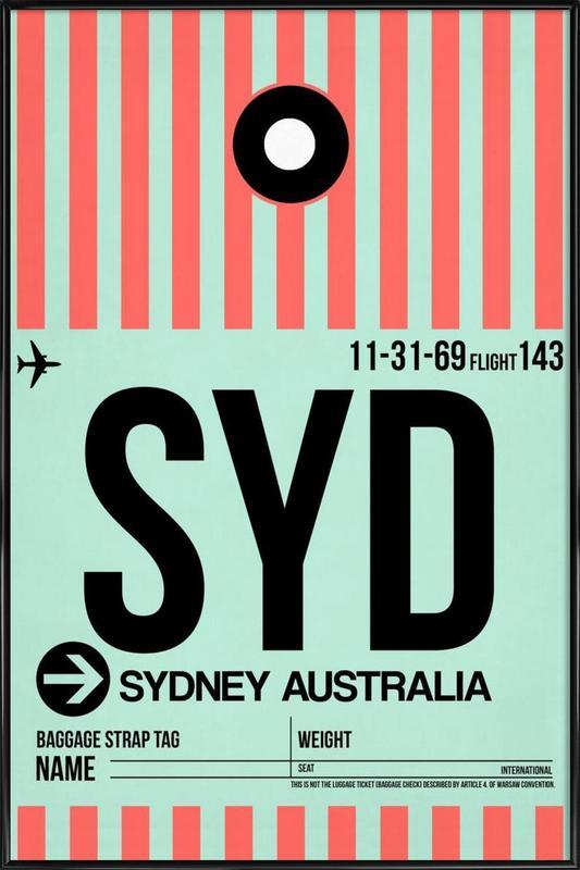 SYD-Sydney -Bild mit Kunststoffrahmen