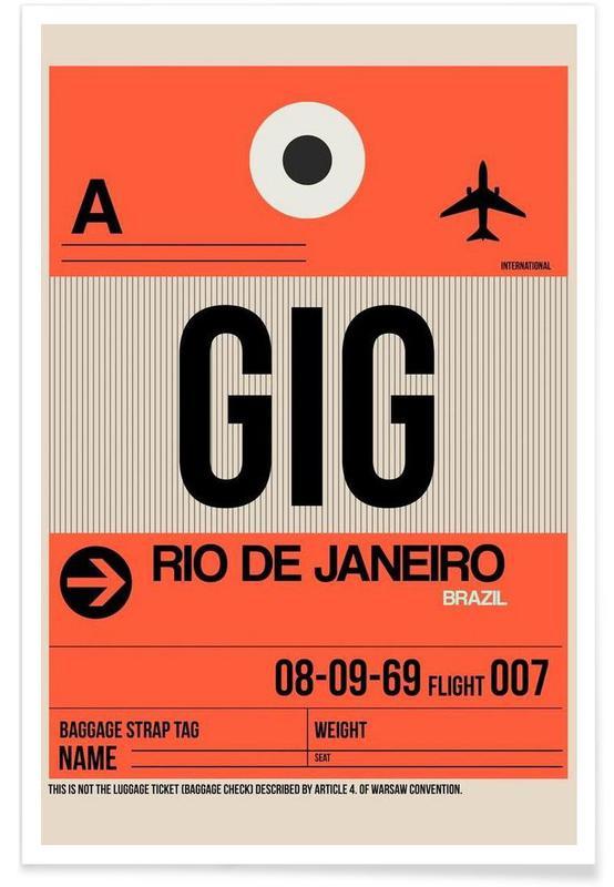 GIG-Rio de Janeiro -Poster