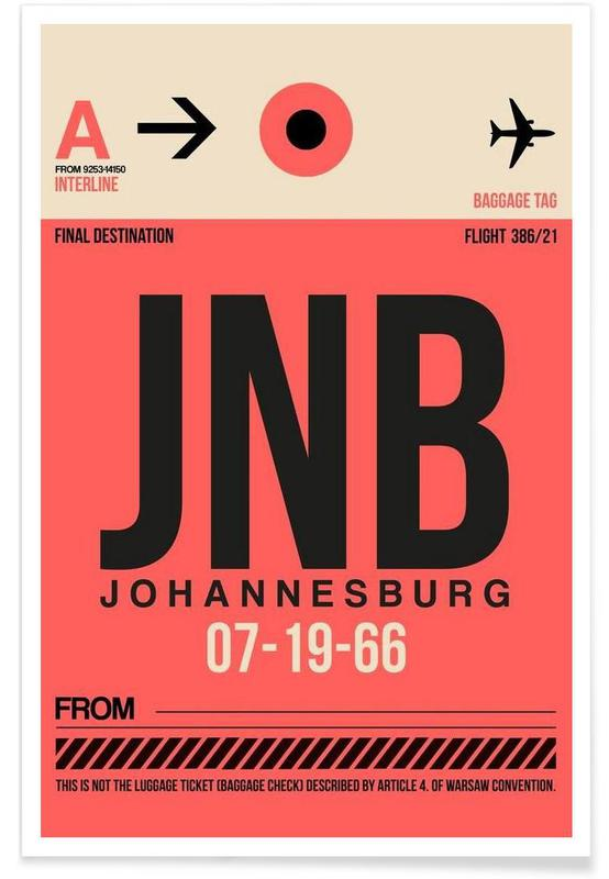 Voyages, JNB-Johannesburg affiche
