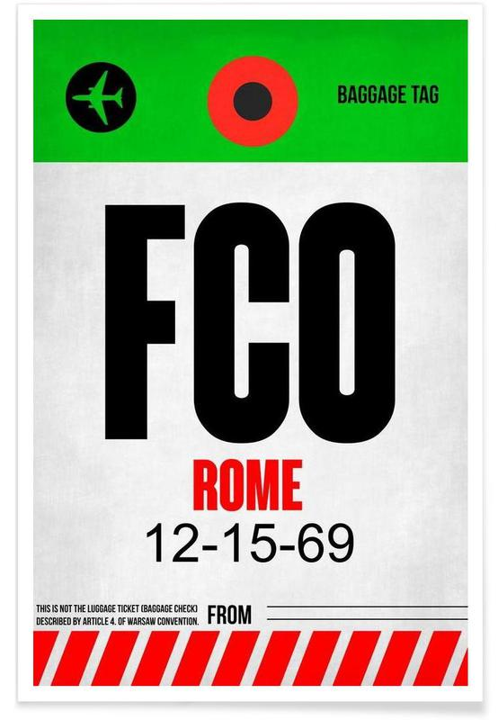 Rome, Voyages, FCO - Rom 2 affiche