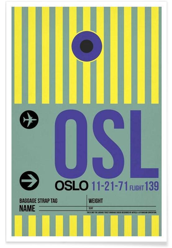 Voyages, OSL - Oslo affiche