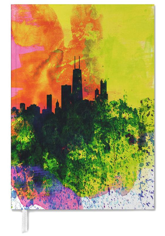 Chicago Watercolor Skyline Personal Planner