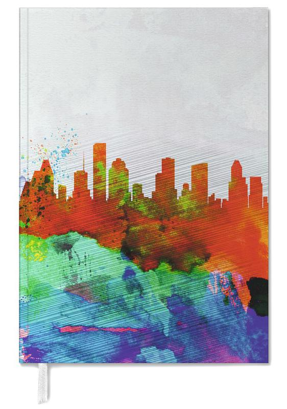 Houston Watercolor Skyline -Terminplaner