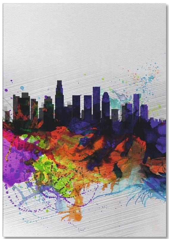 Los Angeles, Los Angeles  Watercolor Skyline 2 bloc-notes
