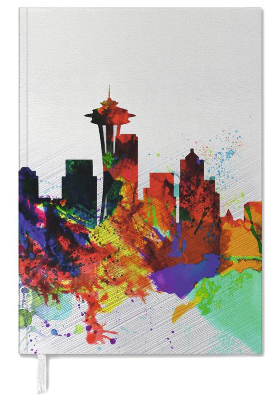 Seattle Watercolor Skyline 2 Personal Planner