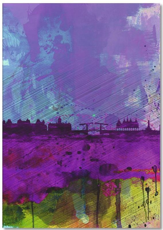 Amsterdam Watercolor Skyline Notepad