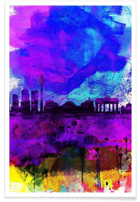 Berlin, Berlin Watercolor Skyline affiche