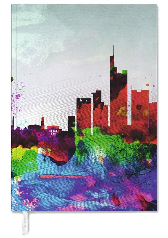 Frankfurt Watercolor Skyline -Terminplaner