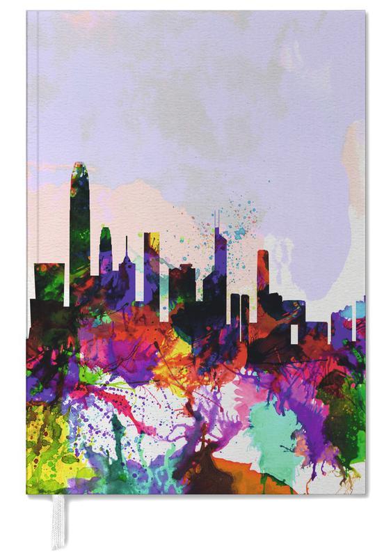Hong Kong Watercolor Skyline -Terminplaner