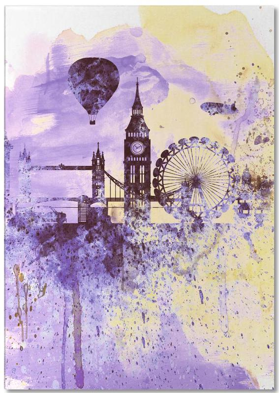 London, London Watercolor Skyline 2 Notepad