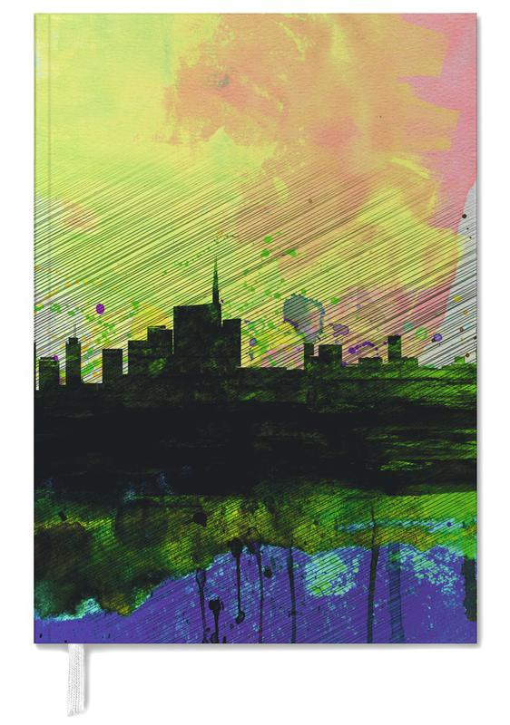 Milan Watercolor Skyline 2 Personal Planner