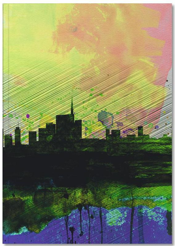 Mailand, Milan Watercolor Skyline 2 Notebook