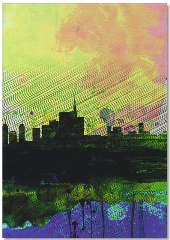 Milaan, Milan Watercolor Skyline 2 notitieblok