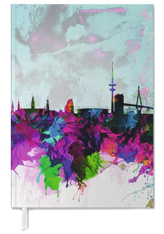 Hamburg Watercolor Skyline Personal Planner
