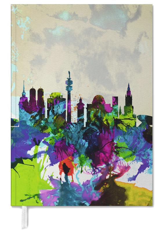 Munich Watercolor Skyline Personal Planner