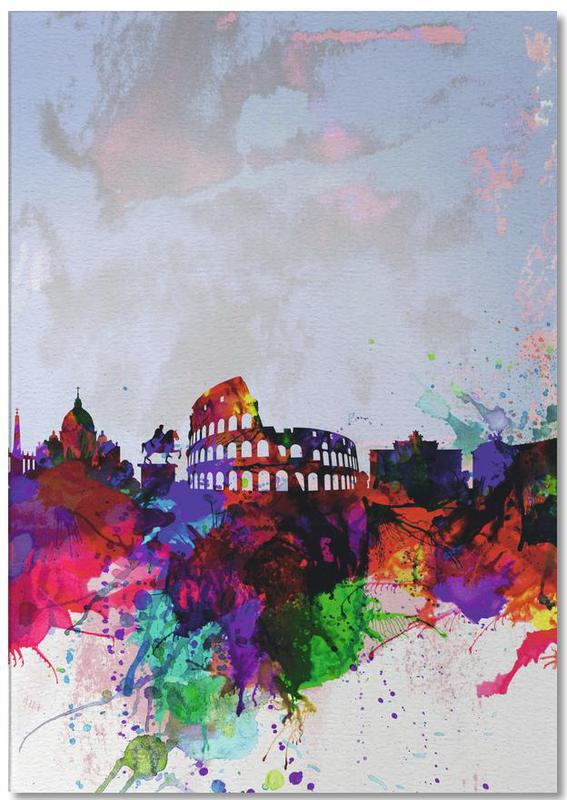 Rome Watercolor Skyline bloc-notes