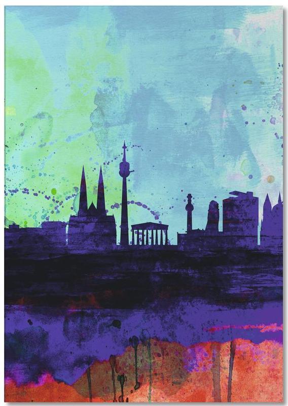 Vienne, Vienna Watercolor Skyline bloc-notes