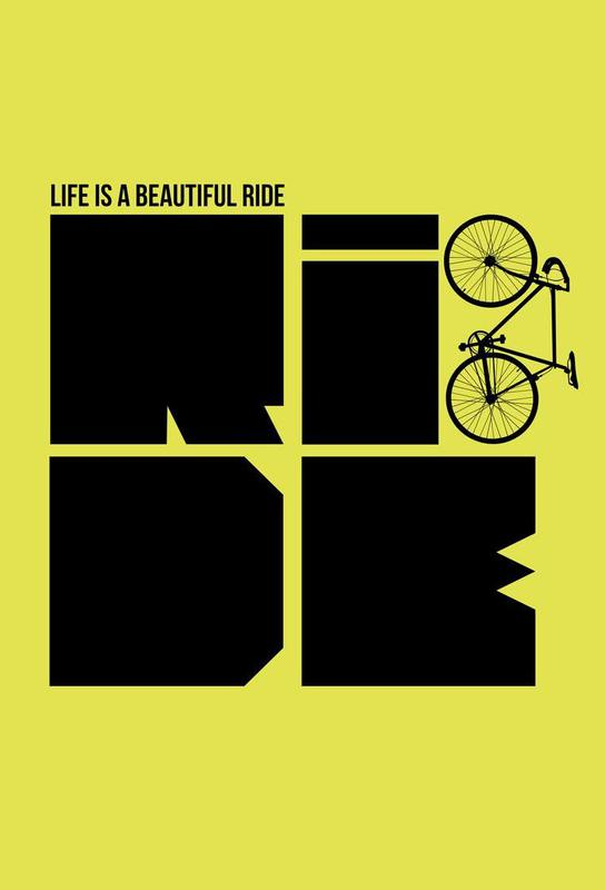 Life is a Ride Poster acrylglas print