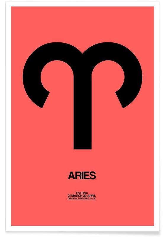 Symbole, Aries Zodiac Sign Black -Poster