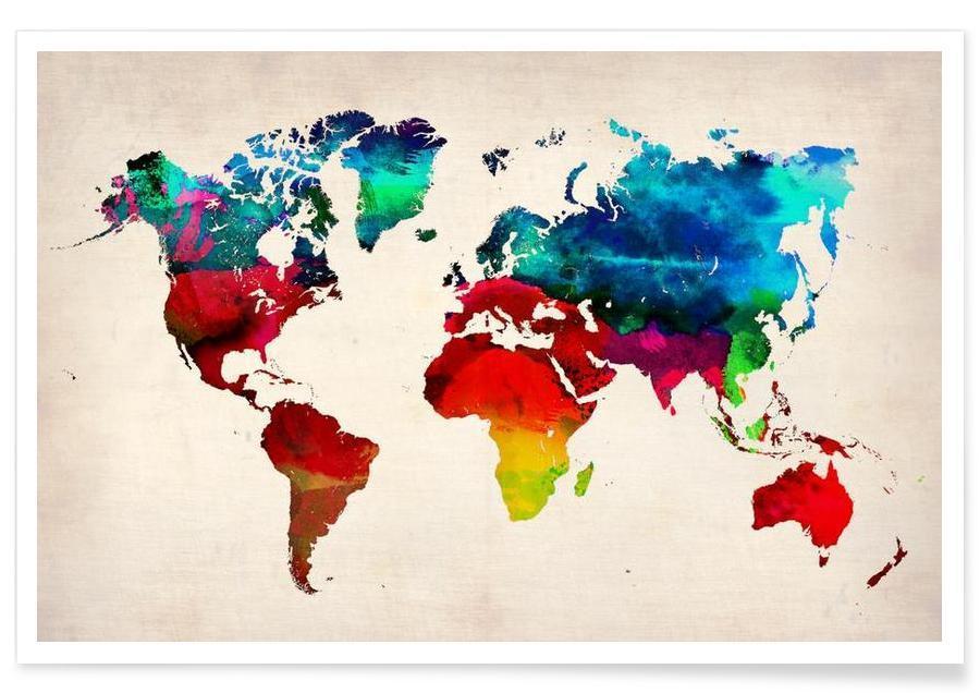 Wereldkaarten, World Map poster