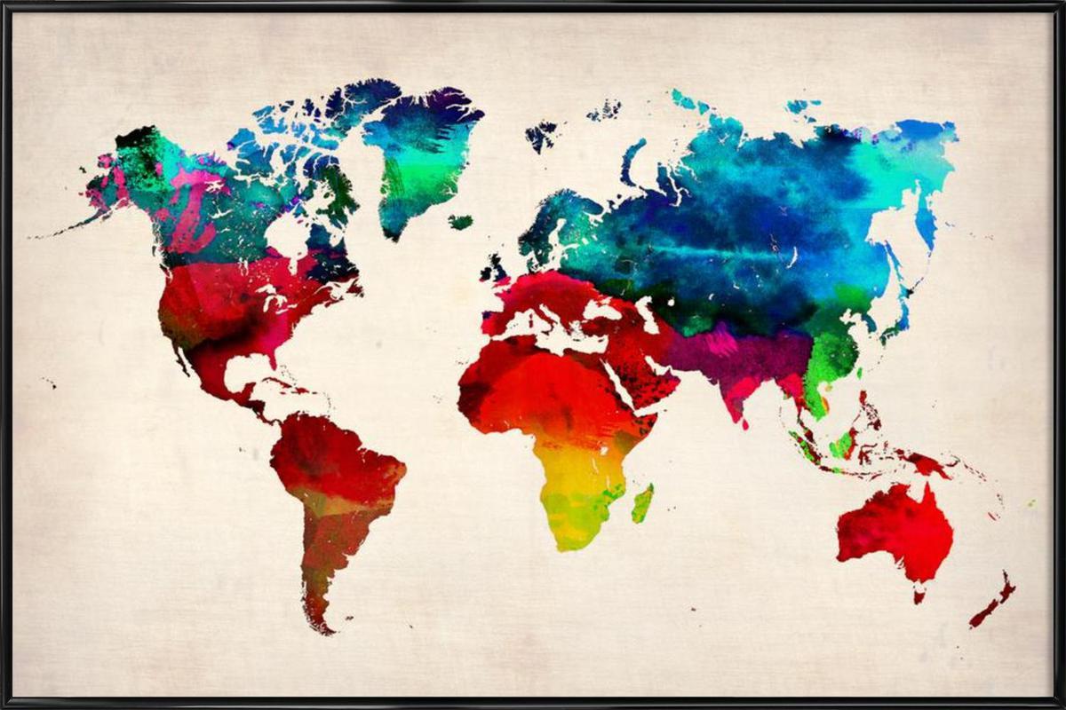 World Map Framed Poster
