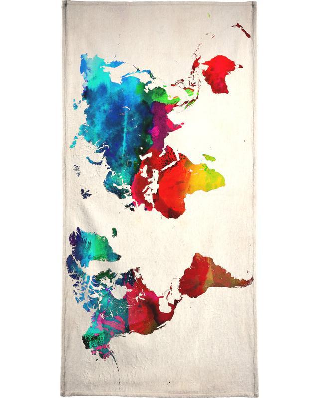 World Map -Handtuch