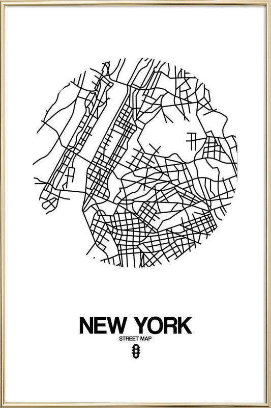 New York Poster in Aluminium Frame