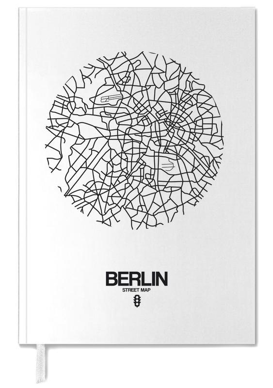 Stadskaarten, Berlijn, Zwart en wit, Berlin Street Map agenda