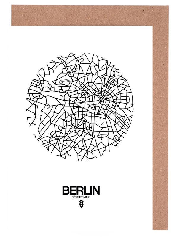 Berlin Street Map -Grußkarten-Set
