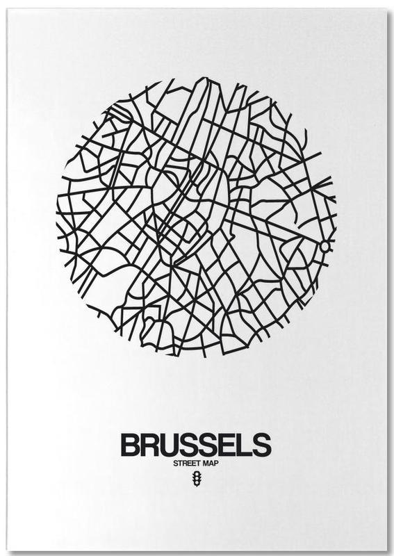 Zwart en wit, Stadskaarten, Brussels notitieblok