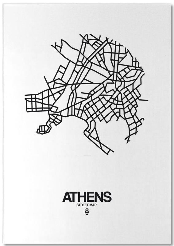 Zwart en wit, Stadskaarten, Athens notitieblok