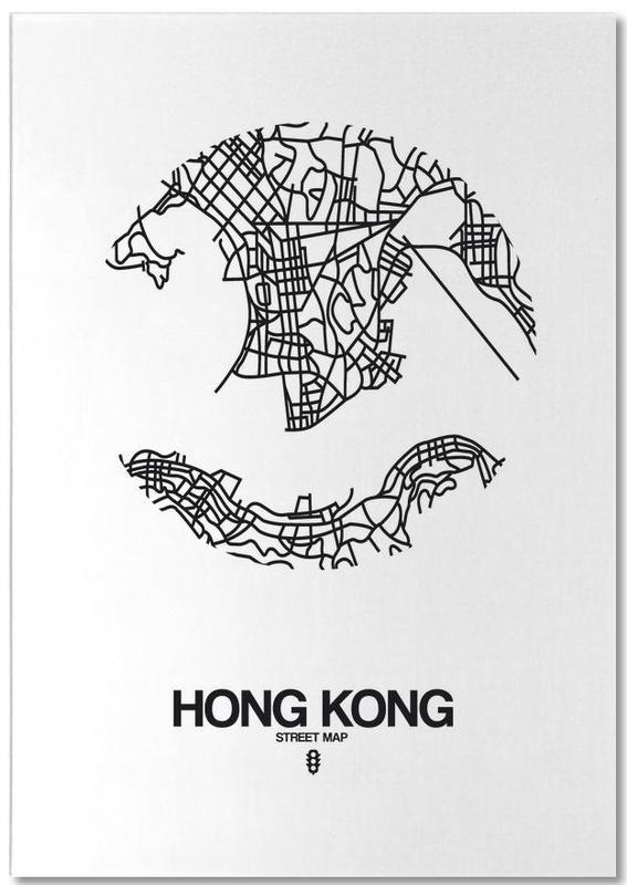 Hongkong, Schwarz & Weiß, Stadtpläne, Hong Kong -Notizblock