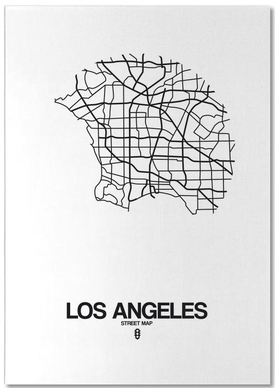 Los Angeles, Noir & blanc, Cartes de villes, Los Angeles bloc-notes
