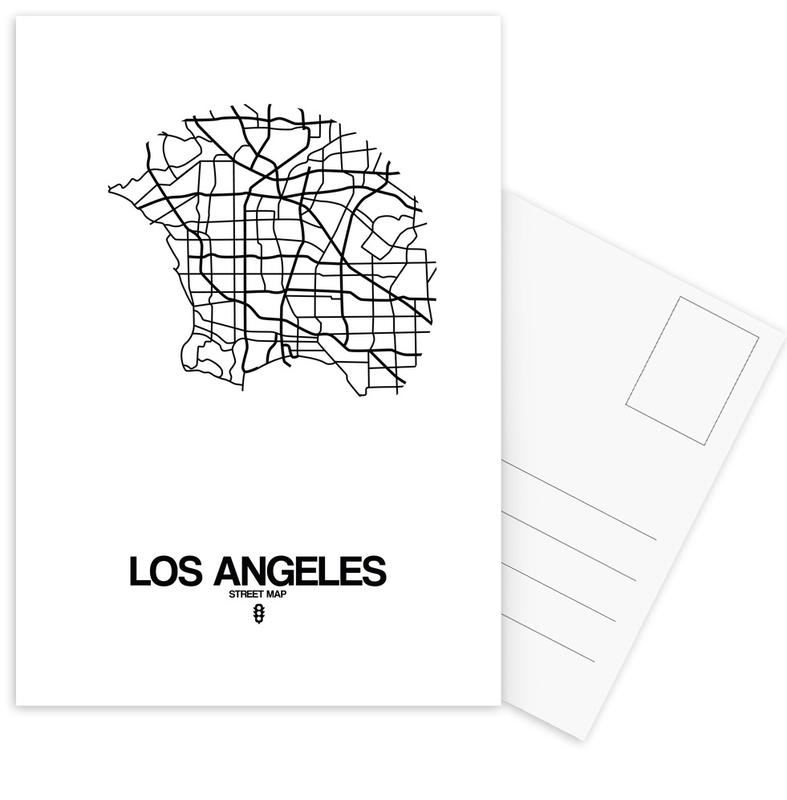 Los Angeles, Stadtpläne, Schwarz & Weiß, Los Angeles -Postkartenset