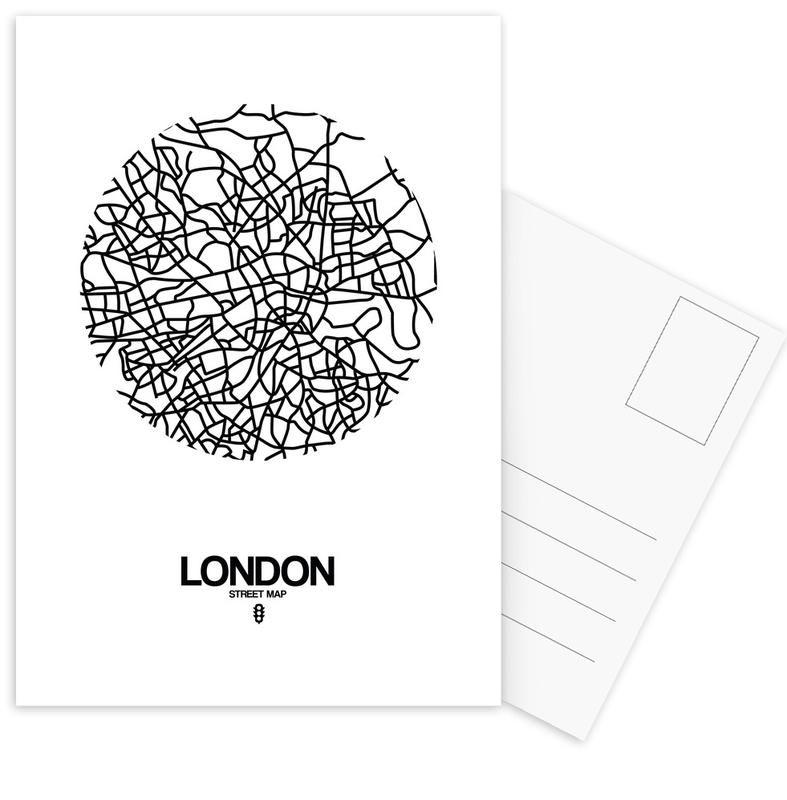 City Maps, Black & White, London, London Postcard Set