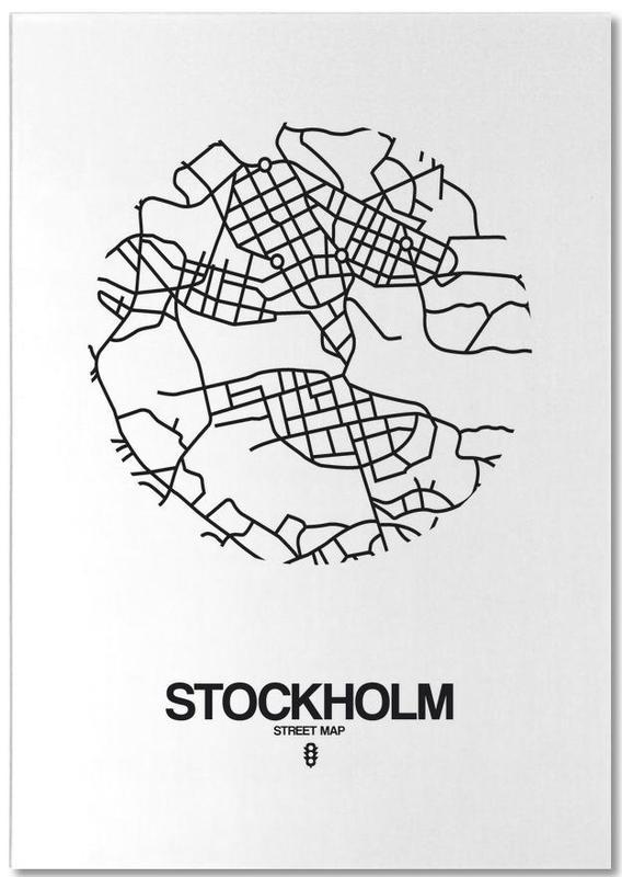 Stockholm, Noir & blanc, Cartes de villes, Stockholm bloc-notes