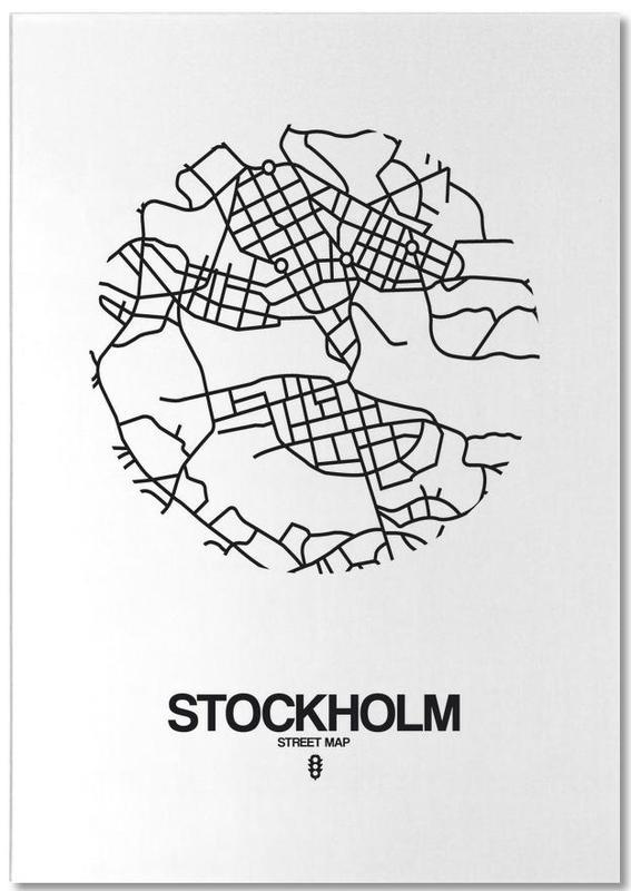 Zwart en wit, Stadskaarten, Stockholm, Stockholm notitieblok