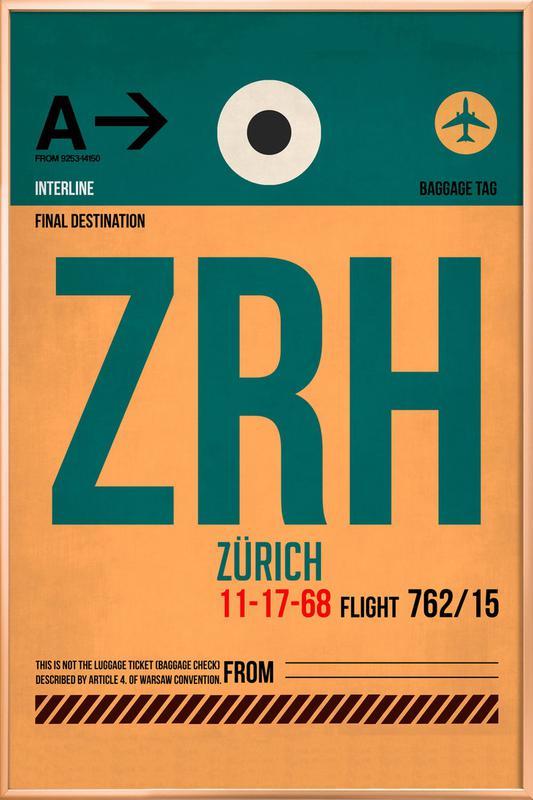 Zurich Poster in Aluminium Frame
