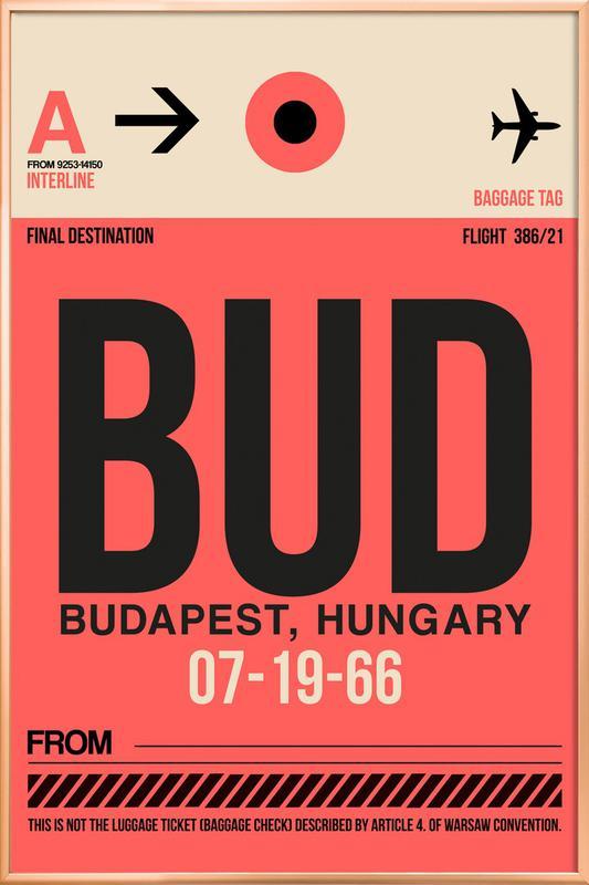 BUD - Budapest Poster in Aluminium Frame