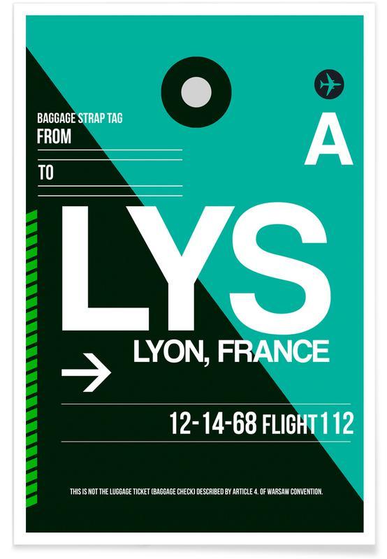 Lyon, Travel, LYS - Lyon Poster