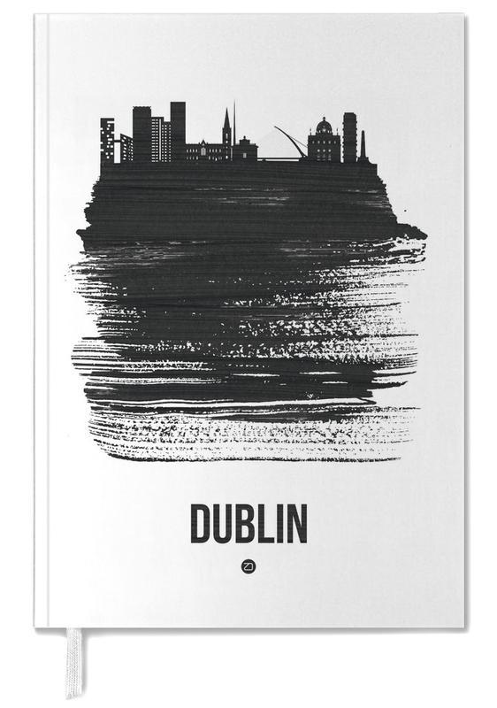 Skylines, Dublin, Zwart en wit, Dublin Skyline Brush Stroke agenda