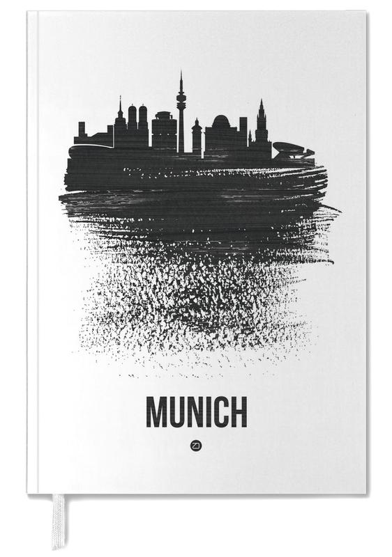 Munich Skyline Brush Stroke Personal Planner