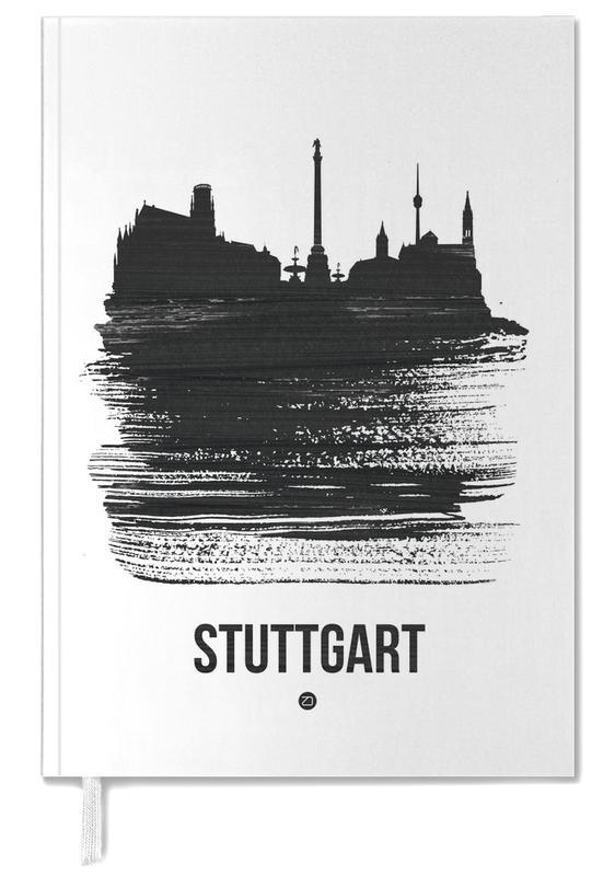 Stuttgart Skyline Brush Stroke Personal Planner