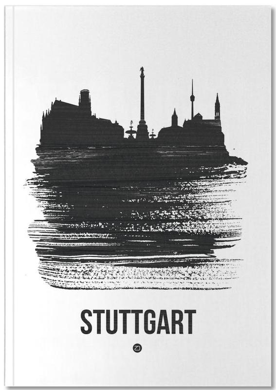 Stuttgart Skyline Brush Stroke Notebook